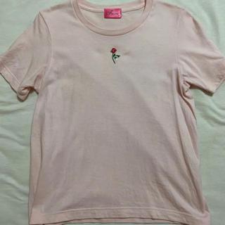 ベリーブレイン(Verybrain)の最終処分 the virgins  薔薇 刺繍Tシャツ(Tシャツ(半袖/袖なし))