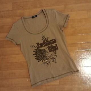 ボッシュ(BOSCH)のBOSCH 飾り付き インディアン ネイティブ系 Tシャツ   S962(Tシャツ(半袖/袖なし))