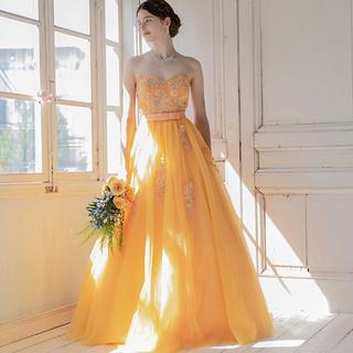 ウェディングドレス♡イエローオレンジ(ウェディングドレス)