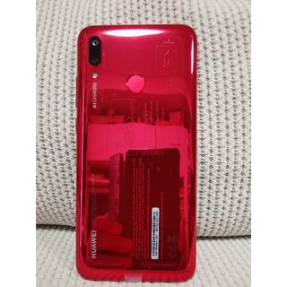 アンドロイド(ANDROID)の★ほぼ新品★HUAWEI nova lite 3 Coral Red 赤(スマートフォン本体)