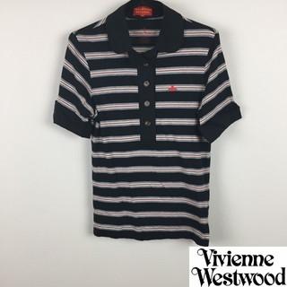 ヴィヴィアンウエストウッド(Vivienne Westwood)の美品 ヴィヴィアンウエストウッドレッドレーベル 半袖ポロシャツ カットソー生地(ポロシャツ)