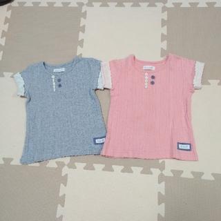 ビケット(Biquette)のBiquette トップス 2枚セット 双子ちゃんに(Tシャツ/カットソー)