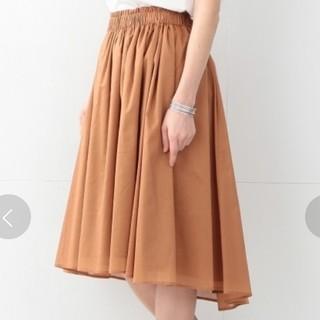 デミルクスビームス(Demi-Luxe BEAMS)のデミルクスビームス☆コットンボイルギャザースカート(ひざ丈スカート)
