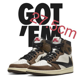 ナイキ(NIKE)のair jordan 1 travis scott 27.5cm(スニーカー)