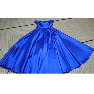 ドレス カラー ブルー(ロングドレス)