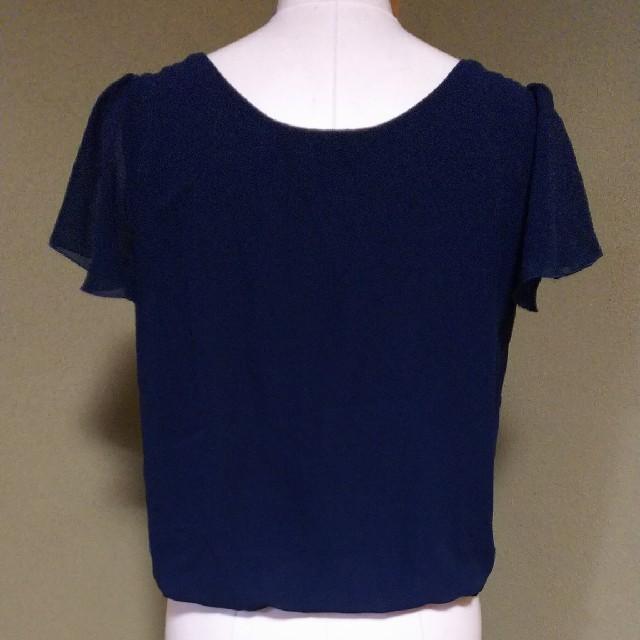 CLEAR IMPRESSION(クリアインプレッション)のClear Impression*紺色の半袖カットソー*サイズ2 美品 レディースのトップス(カットソー(半袖/袖なし))の商品写真
