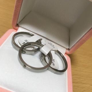 3つセット♡キュービックジルコニア付きステンレス銅リング(リング(指輪))