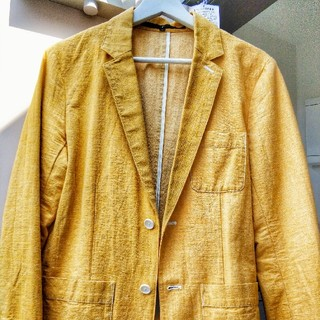 ノーアイディー(NO ID.)の【NoID】 テーラードジャケット color:イエロー(黄色)(テーラードジャケット)