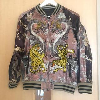 ザラ(ZARA)のZara スカジャン ブルゾン リバーシブル ピンク ジャケット海外(スカジャン)