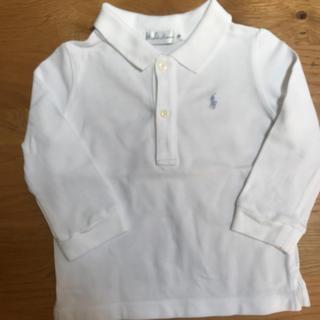 ポロラルフローレン(POLO RALPH LAUREN)のラルフローレンポロシャツ 白長袖80サイズ(シャツ/カットソー)