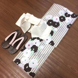 【美品】創美苑 bonheur saisons 浴衣 フリーサイズ 3点セット(浴衣)