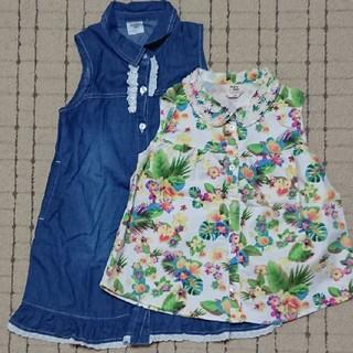2枚セット☆半袖☆ワンピース☆Tシャツ☆120☆ドンキージョシー☆丸高衣料