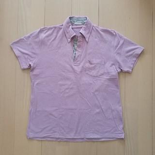 ジーユー(GU)のポロシャツ メンズ ピンク(ポロシャツ)