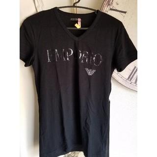 エンポリオアルマーニ(Emporio Armani)のエンポリオ アルマーニ Tシャツ 半袖 ブラック 黒(Tシャツ/カットソー(半袖/袖なし))