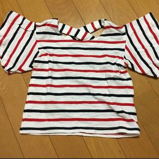 シマムラ(しまむら)のバースデイ ボーダー 半袖 Tシャツ 90サイズ(Tシャツ/カットソー)