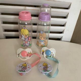 希少レア☆美品✨プレシャスモーメント♡哺乳瓶2本➕おしゃぶり2個&ホルダー2個✨(哺乳ビン)