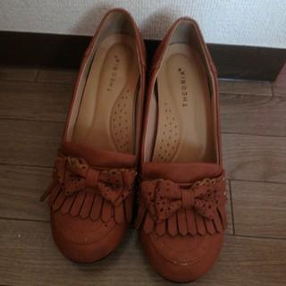 シマムラ(しまむら)のしまむら レディースパンプス ローファー 靴 キャメル ブラウン (ハイヒール/パンプス)