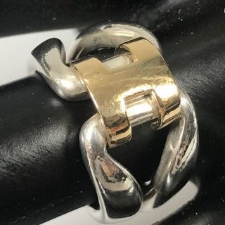 エルメス(Hermes)の美品 エルメス Hロゴ リング 指輪 12号 UI24(リング(指輪))