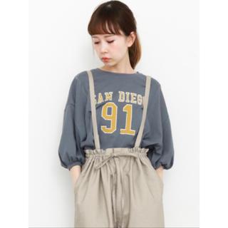 ケービーエフ(KBF)のKBF ナンバリング リメイク Tシャツ ブルー(Tシャツ(長袖/七分))
