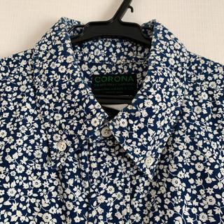 ポストオーバーオールズ(POST OVERALLS)のコロナ フラワープリントB.Dシャツ メンズL CORONA ボタンダウンシャツ(シャツ)