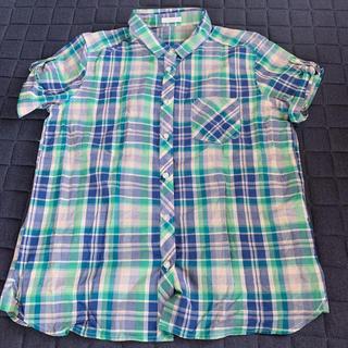 ジーユー(GU)のジーユー GU ブラウス チェックシャツ(シャツ/ブラウス(半袖/袖なし))