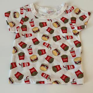 シマムラ(しまむら)の男女兼用 フード柄 ハンバーガー ポテト 80cm Tシャツ しまむら H&M(Tシャツ)