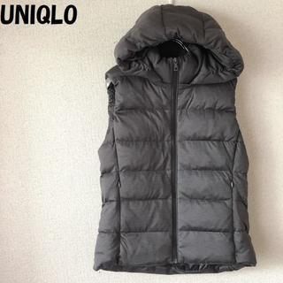 ユニクロ(UNIQLO)の【人気】UNIQLO/ユニクロ フーディーダウンベスト グレー サイズL(ダウンベスト)