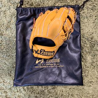 Zeems - ジームスYHシリーズ軟式内野手用グローブ イエロー×タン 袋付き