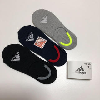 アディダス(adidas)の送無 アディダス 滑り止め加工 靴下 ソックス スニーカーソックス 3足セット(ソックス)