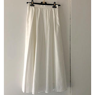 クイーンズコート(QUEENS COURT)の美品 クリーニング済☆QUEENSCOURT☆人気のホワイトスカート(ロングスカート)
