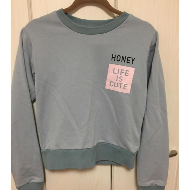 Honey mi Honey(ハニーミーハニー)のHONEY MI HONEY♡トレーナー レディースのトップス(トレーナー/スウェット)の商品写真