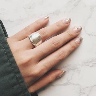 ユナイテッドアローズ(UNITED ARROWS)の[一点物]silver925 シルバーリング ワイドリング(リング(指輪))