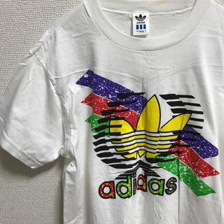 アディダス(adidas)のadidas アディダス 90s 希少 デサント製 トレフォイル Tシャツ   (Tシャツ/カットソー(半袖/袖なし))