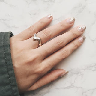 ユナイテッドアローズ(UNITED ARROWS)の[一点物]silver925 シルバーリング ウェーブリング(リング(指輪))