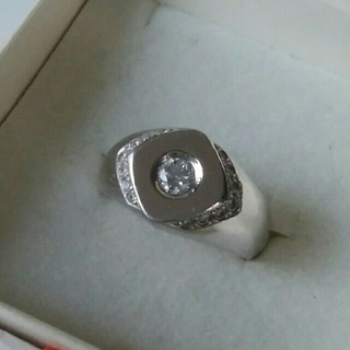 pt900ダイヤ印台(リング(指輪))