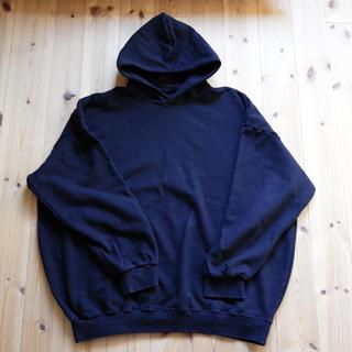 久米繊維 BIGフーディー パーカー ブラック ONESIZE(パーカー)