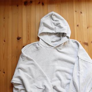 【アップルパイ様専用】久米繊維 BIGフーディー パーカー ホワイトアッシュ(パーカー)