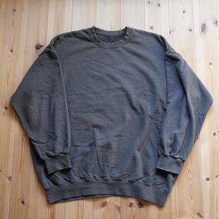 久米繊維 BIGスウェットシャツ クルーネック オリーブカーキ ONESIZE(スウェット)