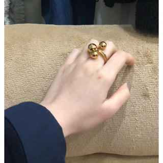 ゴールド、3ボールリング、14号  import gold ring (リング(指輪))