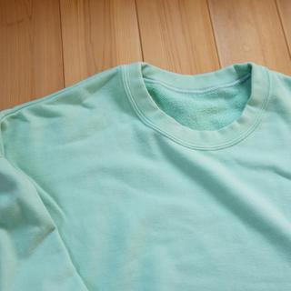 【Msnr様専用】久米繊維 BIGスウェットシャツ クルーネック グリーン(スウェット)