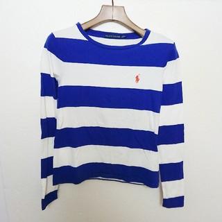 ラルフローレン(Ralph Lauren)のRalphLauren ラルフローレン ロゴ刺繍ボーダーカットソー(Tシャツ/カットソー(七分/長袖))