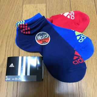アディダス(adidas)の値下げ❣️adidas☆スニーカーソックス 23〜25(ソックス)
