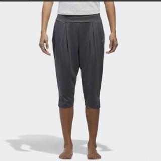 アディダス(adidas)のアディダスヨガパンツXLグレーレディース(ヨガ)