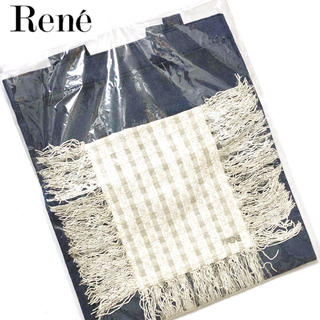 ルネ(René)の新品 ルネ  ラメツイードロゴプレート付 デニムトートバッグ(トートバッグ)