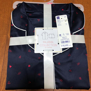 ジーユー(GU)のGU サテンハート柄パジャマ(半袖×ショートパンツ)(パジャマ)