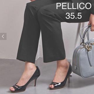 ペリーコ(PELLICO)の極美品 ★ ペリーコ アネッリ オープントゥパンプス ★ ブラック(ハイヒール/パンプス)