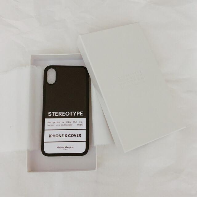 iphone8 デュアル sim ケース - Maison Martin Margiela - Maison Margiela iPhone X case black 黒の通販 by たろう's shop|マルタンマルジェラならラクマ
