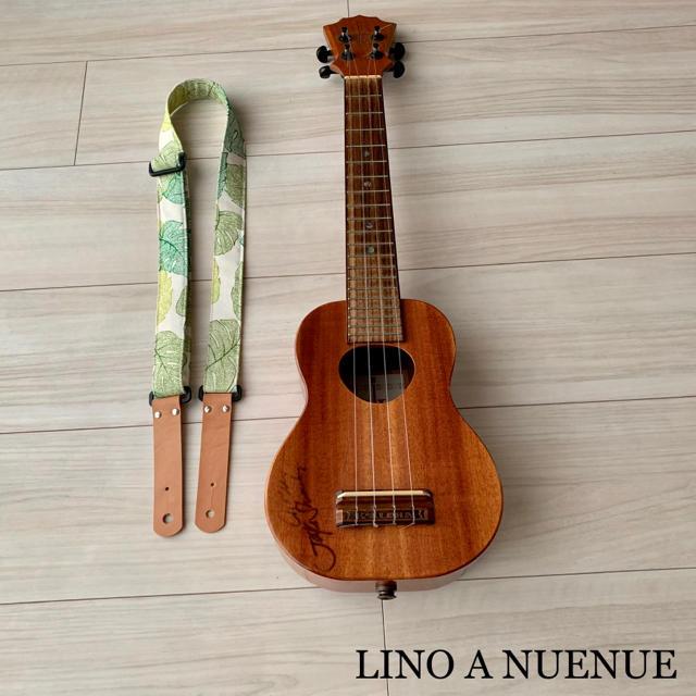 ウクレレストラップ モンステラグリーン ピン式 楽器のウクレレ(その他)の商品写真