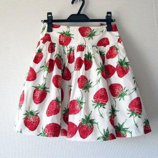 ジェーンマープル(JaneMarple)のJane Marple ロイヤルストロベリーのスカート(ミニスカート)