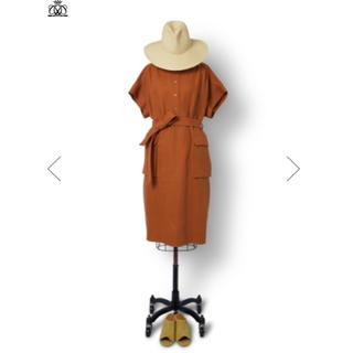 ドゥロワー(Drawer)のdrawer ¥91,800 ツイル スタンドカラー ドレス サイズ36 美品(ひざ丈ワンピース)
